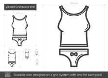 Woman underwear line icon. Stock Images
