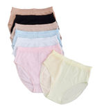 Woman underwear arrangement isolated  Royalty Free Stock Images
