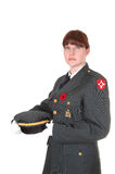 Woman in uniform. Stock Photos
