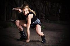 Woman in uniform (dark ver) Royalty Free Stock Image