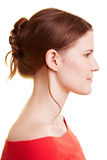 Woman with updo Royalty Free Stock Photo