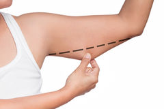 Woman upper arm Royalty Free Stock Images
