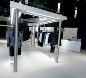 Woman upscale fashion retail store. In Europe stock photos