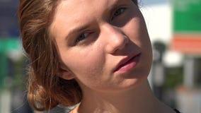 Woman in Urban Area. Stock video of woman in urban area stock video