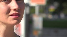 Woman in Urban Area. Stock video of woman in urban area stock video footage