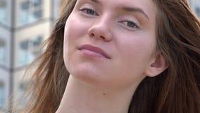 Woman in Urban Area. Stock video of woman in urban area stock footage