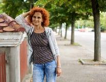 Woman in urban environment stock photos
