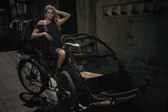 Woman urban portrait stock photos