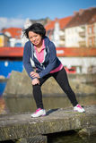 Woman urban sport exercising Royalty Free Stock Photos