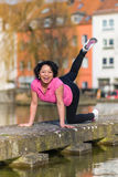 Woman urban sport exercising Royalty Free Stock Image