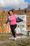 Woman urban sport exercising Stock Photos