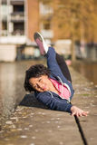 Woman urban sport exercising royalty free stock photo