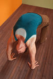 Woman In Urdhva Dhanurasana Yoga Pose Royalty Free Stock Photography
