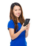 Woman use cell phone Royalty Free Stock Photo