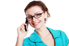 Woman use cell phone Royalty Free Stock Images