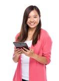 Woman use digital tablet Stock Image