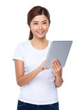 Woman use of the digital tablet Stock Photo