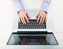 Woman use laptop Stock Photos