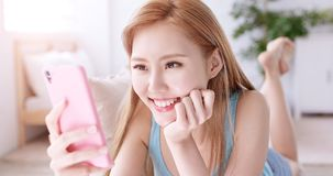 Woman use phone Royalty Free Stock Photo