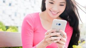 Woman use phone Royalty Free Stock Photo