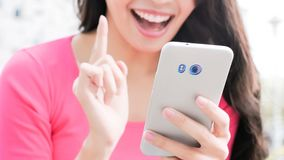 Woman use phone Royalty Free Stock Photography