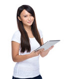 Woman use tablet Royalty Free Stock Images