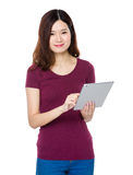 Woman use of tablet Stock Photography