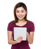 Woman use of tablet Stock Image
