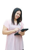Woman use tablet Royalty Free Stock Image