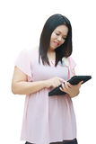 Woman use tablet Stock Image