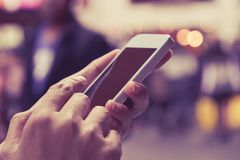 Woman Using A Smart Phone Stock Image