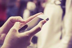 Woman Using A Smart Phone Stock Photos