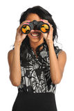 Woman Using Binoculars Royalty Free Stock Photos