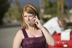 Woman Using Cell Phone Royalty Free Stock Photo