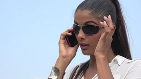 Woman Using Cell Phone stock video footage