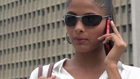 Woman Using Cell Phone stock video