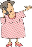 Woman using a cellphone. This illustration depicts a woman using a cellphone Royalty Free Stock Image