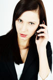 Woman using a cellphone Stock Photo