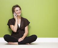 Woman using cellphone Royalty Free Stock Images