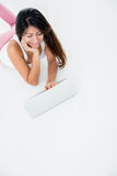 Woman using a computer Royalty Free Stock Photo
