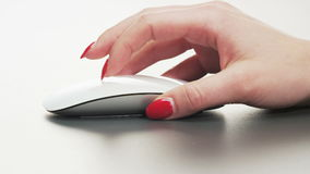 Woman Using Computer Mouse stock video
