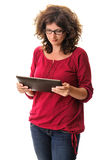 Woman using computer tablet Royalty Free Stock Photography