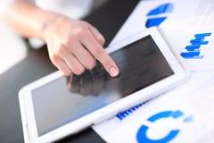 Woman using digital tablet. Closeup Royalty Free Stock Photography