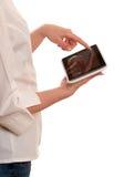 Woman using digital tablet computer Royalty Free Stock Image