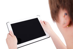 Woman using digital tablet computer PC Royalty Free Stock Photography