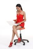 Woman using laptop. Royalty Free Stock Photos