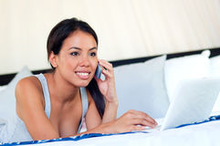 Woman using laptop Royalty Free Stock Photo