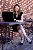 Woman Using Laptop Royalty Free Stock Photography