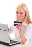 Woman using laptop Royalty Free Stock Photo