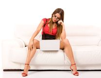 woman using laptop Stock Photos